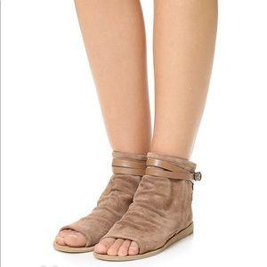 Vince Thalia Suede Flat Sandals